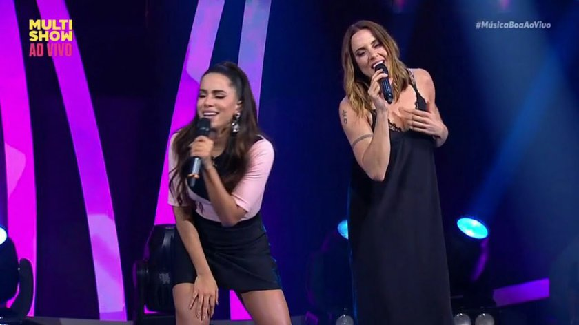 Anitta e ex-Spice Girl Mel C cantam 'Say You'll Be There' no Multishow