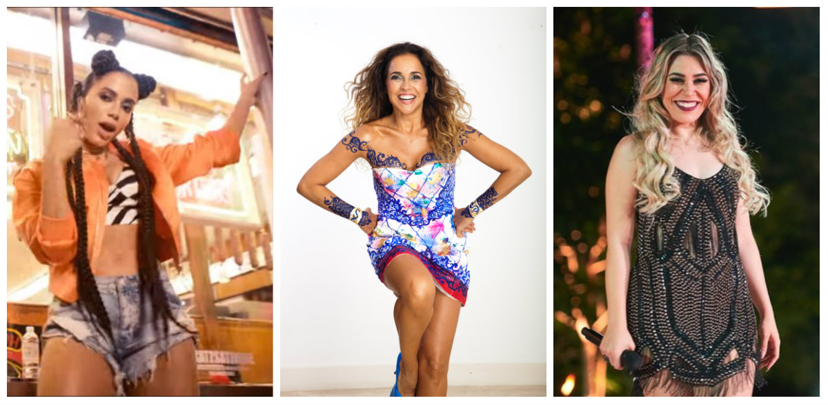 Anitta, Daniela Mercury e Naiara Azevedo neste domingo na #ParadaSP