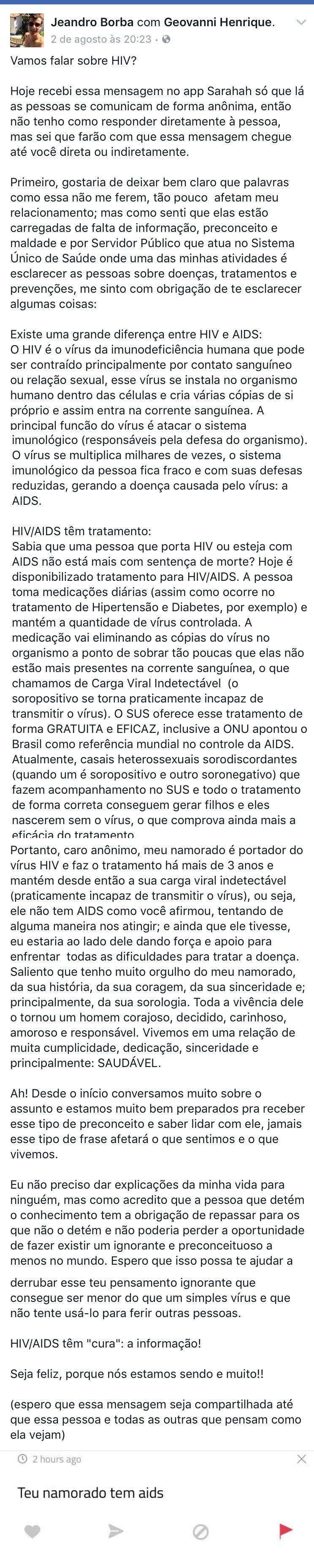 textao sararah hiv