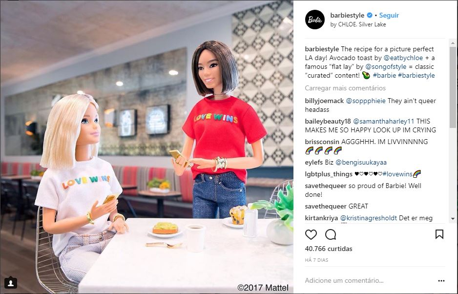 "The recipe for a picture perfect LA day! Avocado toast by @eatbychloe + a famous ""flat lay"" by @songofstyle = classic ""curated"" content! 🥑 #barbie #barbiestyle"