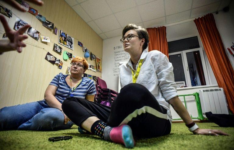 Olga Baranova, diretora do primeiro refúgio para jovens LGBT (lésbicas, gays, transexuais e bissexuais) na Rússia, em Moscou