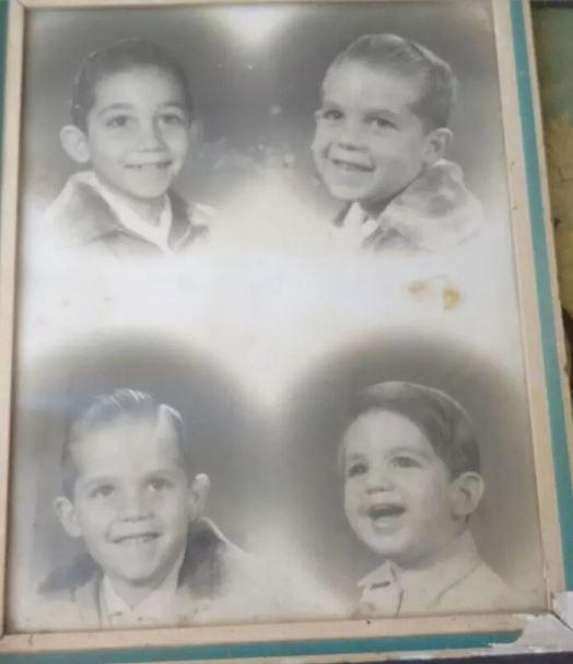 Ricardo (à esq., no alto), Marcelo, Flavio e Julio, em montagem de fotos feitas em diferentes anos