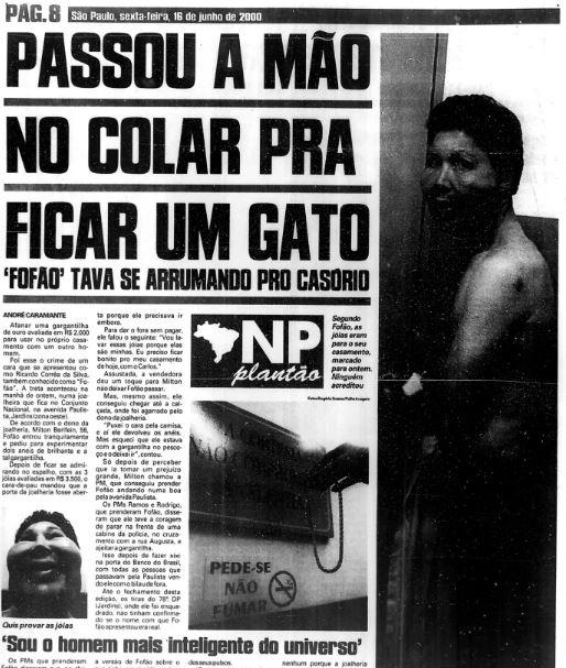 Notícias Populares de 16 de junho de 2000