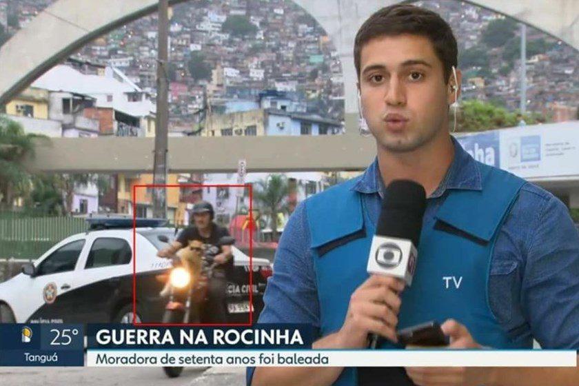 Gato chama atenção durante reportagem ao vivo na Rede Globo