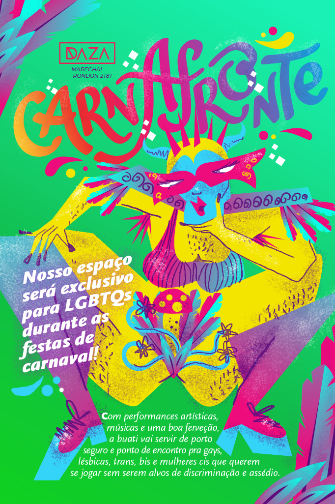 Flyer do Carnafronte, da disco Daza