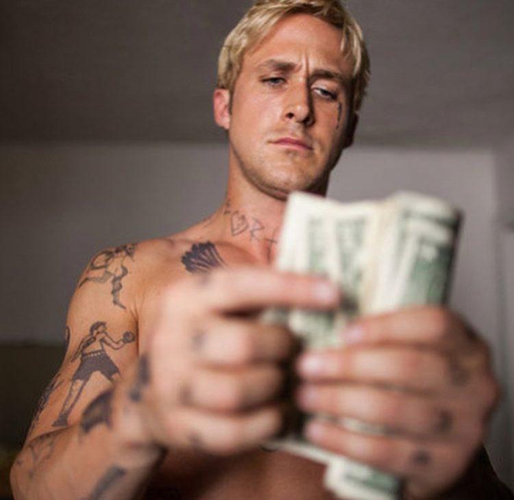 Ryan Gosling e dinheiro = muito amor