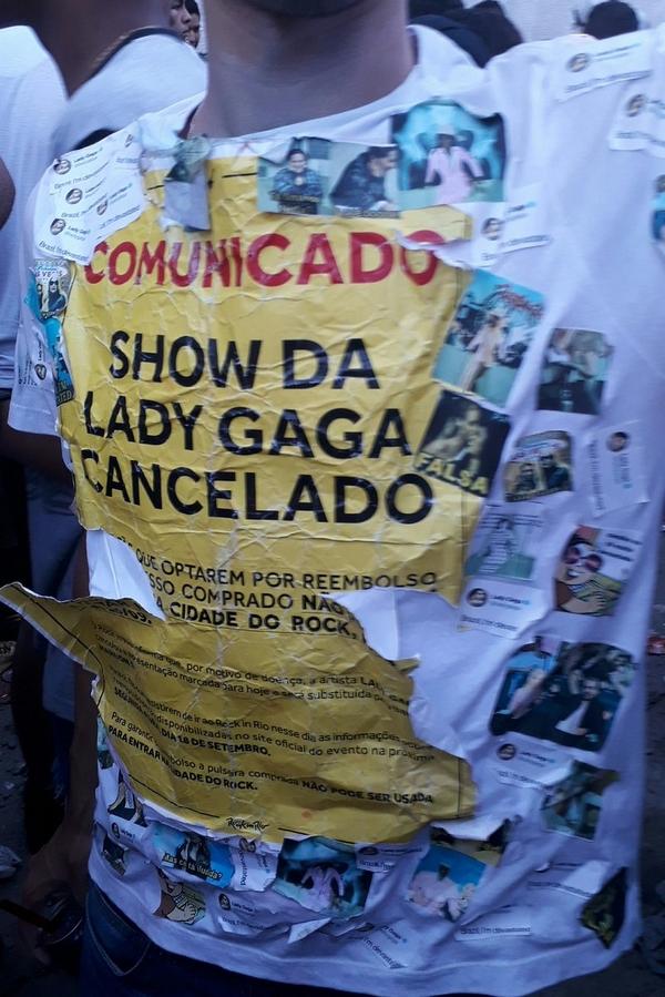 Show da Gaga cancelado