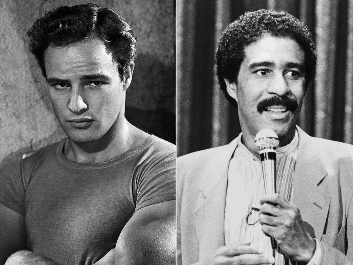 Marlon Brando, in character as Stanley Kowalski from Tennessee Williams' A Streetcar Named Desire. Brando portrayed Kowalski in the 1952 film of the play directed by Elia Kazan. Richard Pryor performs his stand-up comedy routine in a scene from his 1982 movie Richard Pryor: Live on the Sunset Strip Credit: Bettmann/Getty