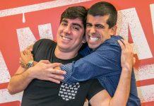 Marcelo Adnet e Marcius Melhem (Foto: Paulo Belote/Rede Globo