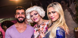 Rogério Oliveira, Salete Campari e Ellen Rocche (Foto: Leo Franco/AgNews )