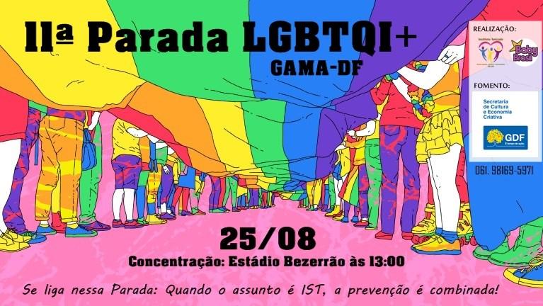 Parada do Orgulho LGBT do Gama-DF 2019 terá ações de prevenção as IST, cultura e inclusão