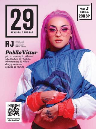 Destaque na capa da edição carioca '29 Horas', Vittar relembra passado marcado por preconceito e celebra o sucesso de sua carreira