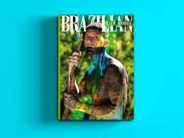 """La tercera edición del anuario de la revista estadounidense """"BRAZILIAN MALE MODEL"""" presenta la exuberancia del modelo brasileño Thiago Perri en su portada, quien fue fotografiado por Marcio Farias en la selva amazónica. La publicación presenta nueve historias de moda de la nueva generación de fotógrafos brasileños en 120 páginas con impresión de gran formato en alta definición"""
