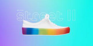 Melissa lança sneaker com sola estampada de arco-íris