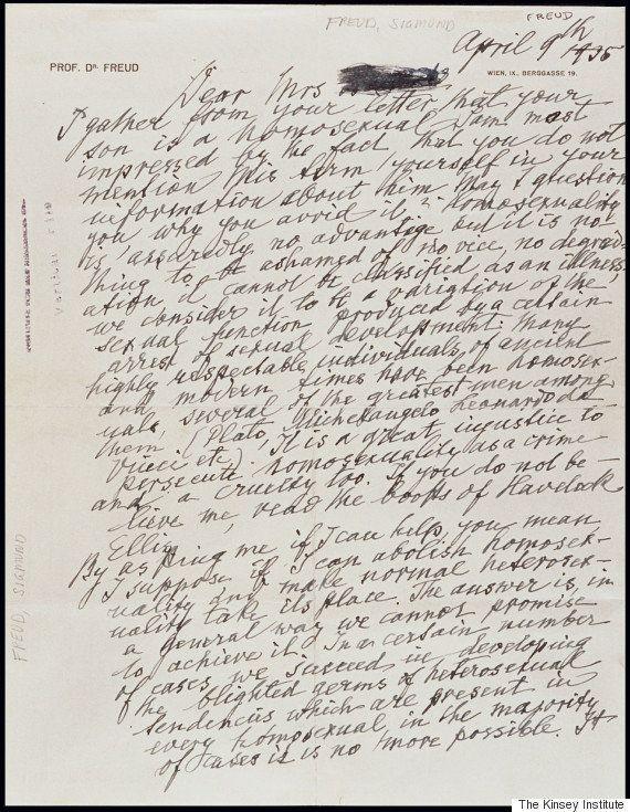 A carta escrita por Freud