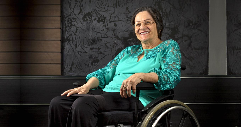 Maria da Penha ficou tetraplégica após seu ex-marido tentar assassiná-la (Foto: Reprodução)