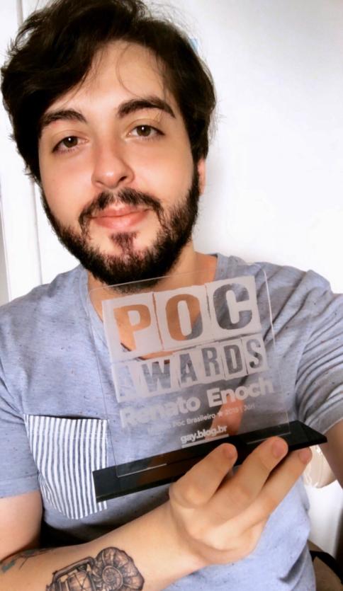 Renato Enoch ganha POC AWARDS 2019 na categoria MPB - Músico Poc Brasileiro