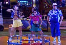 Manu Gavassi comanda dança ao som de Dua Lipa no BBB — Foto: Reprodução / TV Globo