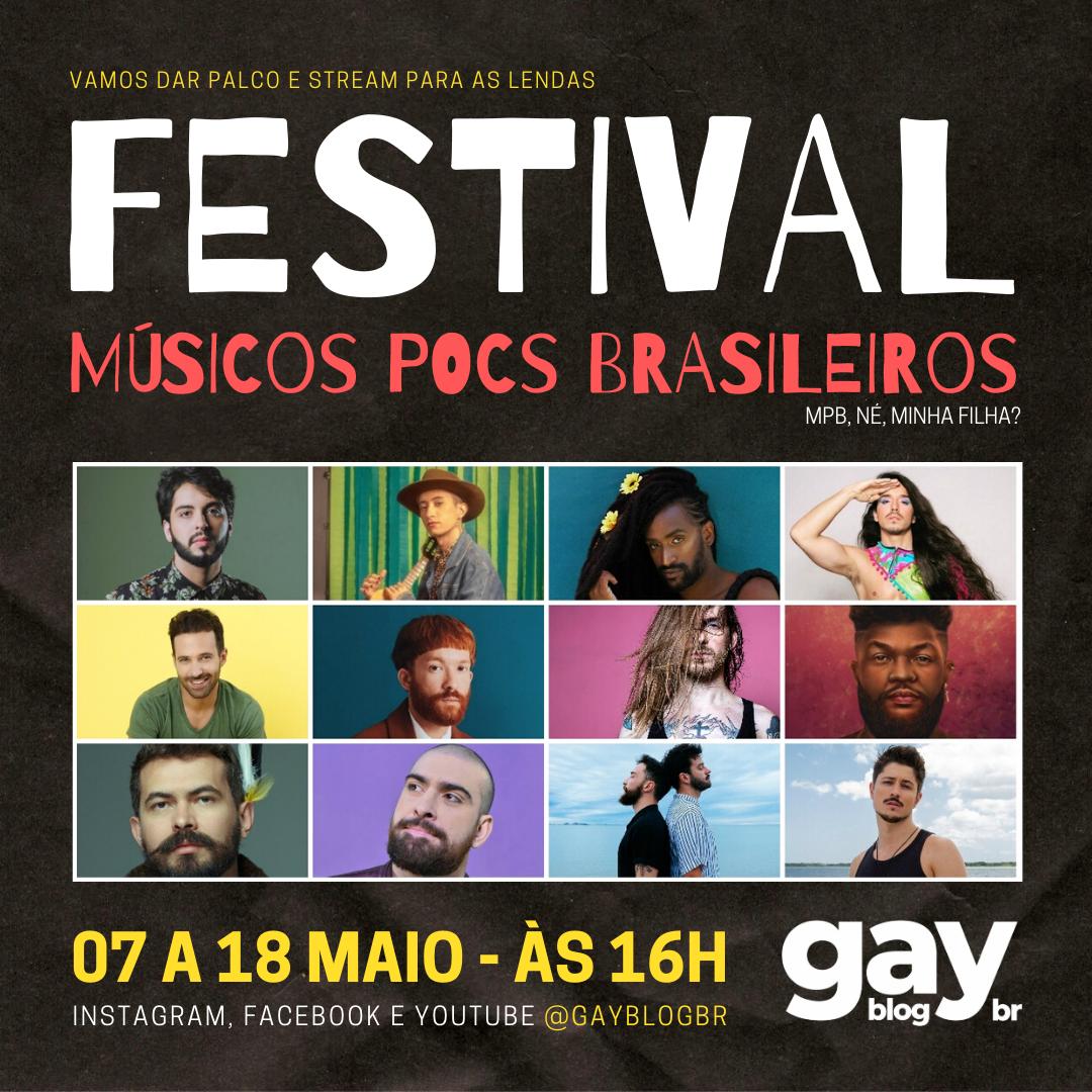Festival de Músicos Pocs Brasileiros (MPB) começa nesta quinta, 07 de maio