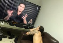 Whindersson Nunes posta foto nu assistindo Felipe Neto na TV