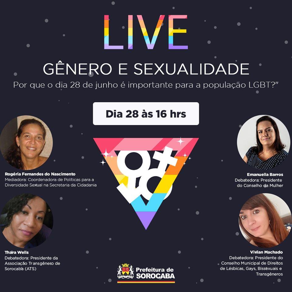 Neste domingo, às 16 horas, acontece uma live na Fan Page da Secid sobre o Dia do Orgulho LGBT.