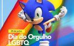 Tectoy comemora dia do orgulho LGBTQIA+ com imagem do Sonic