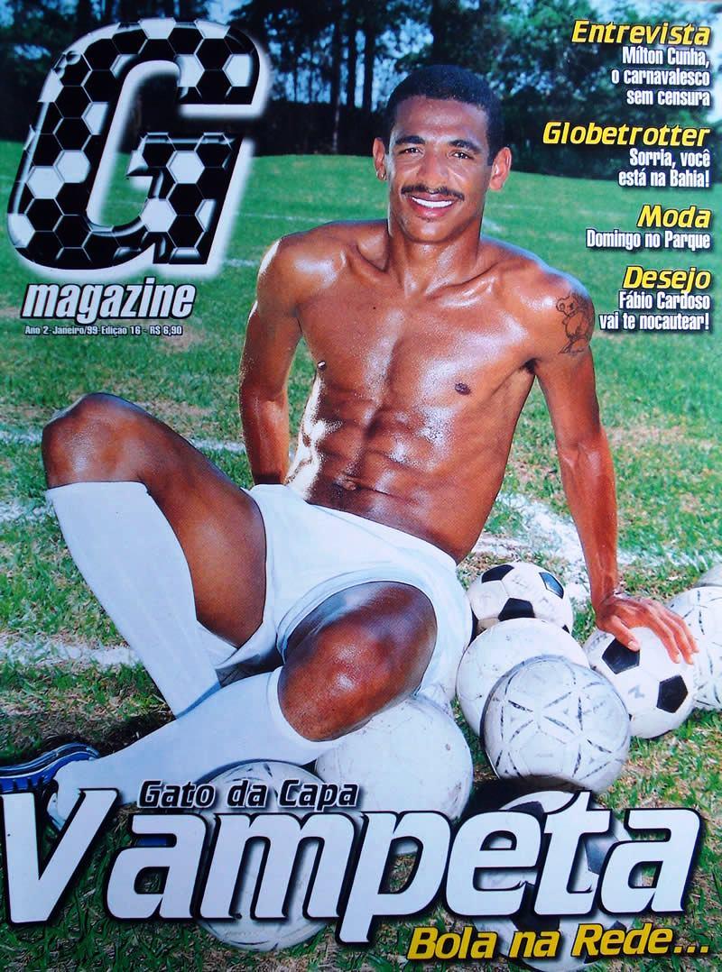 Vampeta, capa da G Magazine em 1999 bolsonarista