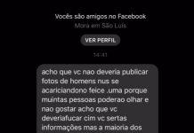 """Cidadão de bem pede para que não se poste foto de """"homens se acariciando"""" no Facebook"""