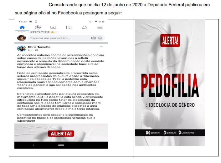 Ministério Público abre representação contra deputada do PSL que associou crime de pedofilia a pessoas LGBTQIA+
