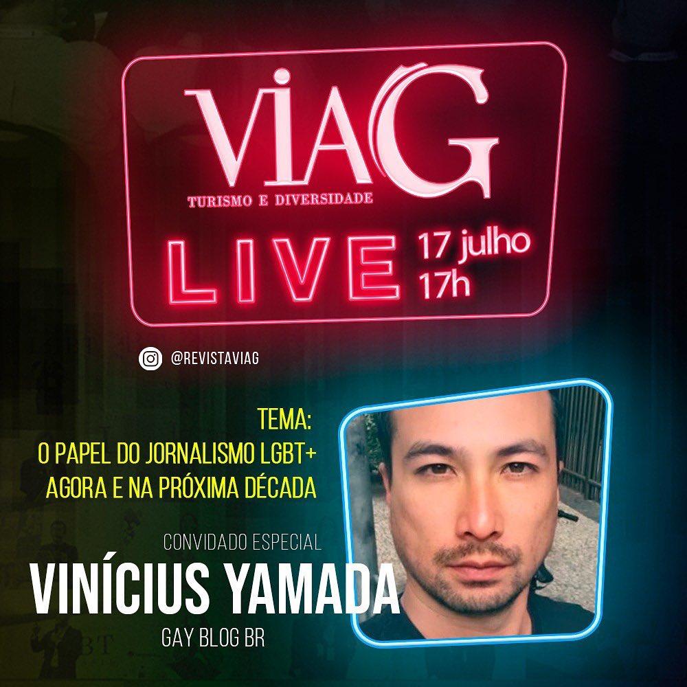 Revista ViaG convida o editor Vinícius Yamada para dissertar sobre o futuro do jornalismo LGBT+
