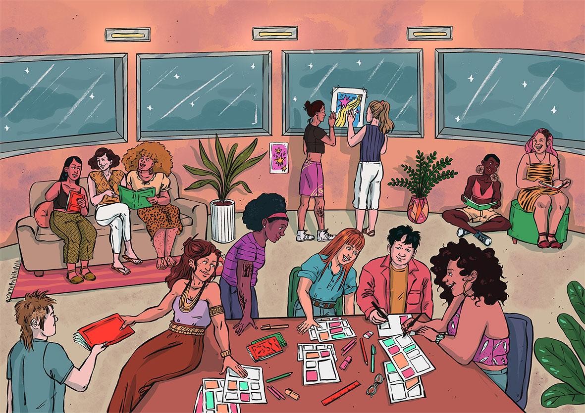 Mulheres e não-binários estão desenvolvendo revistas em quadrinhos