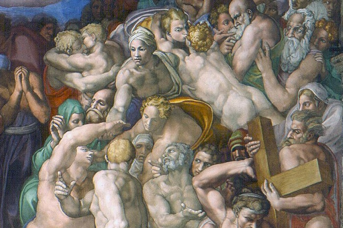 A work by Michelangelo with a gay kiss at the Sistine Chapel becomes a subject after 500 years