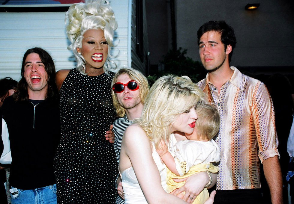 RuPaul and Nirvana: meet the story behind the picture at the MTV Awards