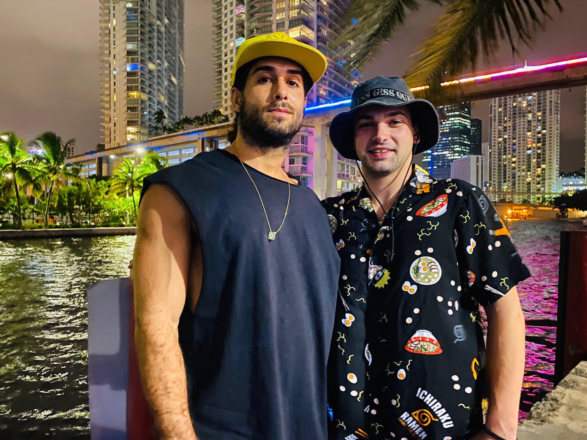 Diego e Rapid - Reprodução Twitter/@JohnnyRapidATL