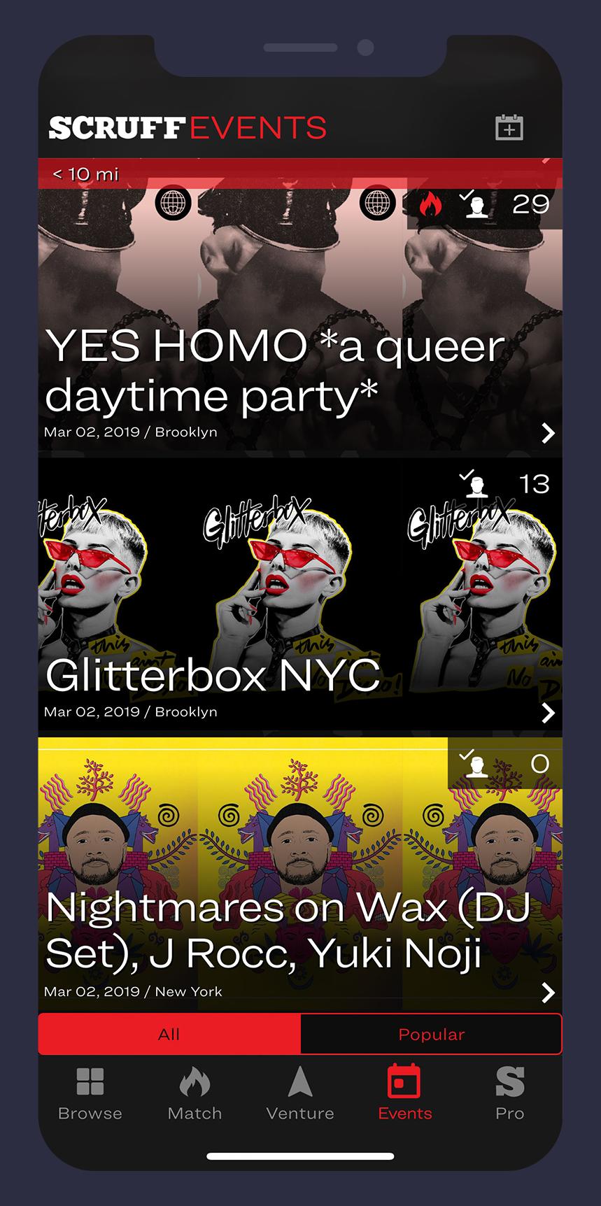 App SCRUFF hospeda agenda de eventos online durante o isolamento social