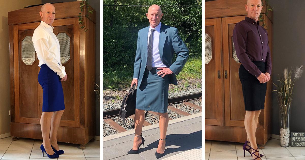 Hétero, casado e pai de três filhos usa saias e salto alto para mostrar que roupas não têm gênero