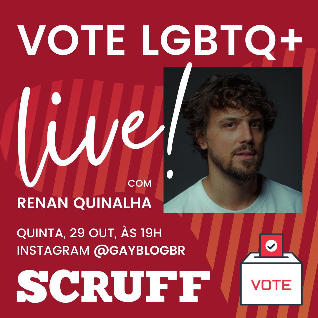 """app SCRUFF foca nos próximos dias em campanha de conscientização pública sob tema """"Vote LGBTQ+"""""""