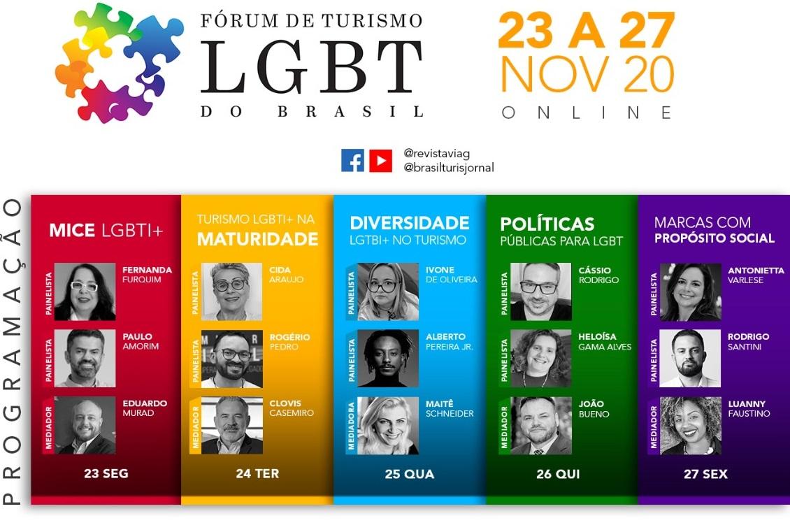 Fórum de Turismo LGBT do Brasil 2020 define programação completa