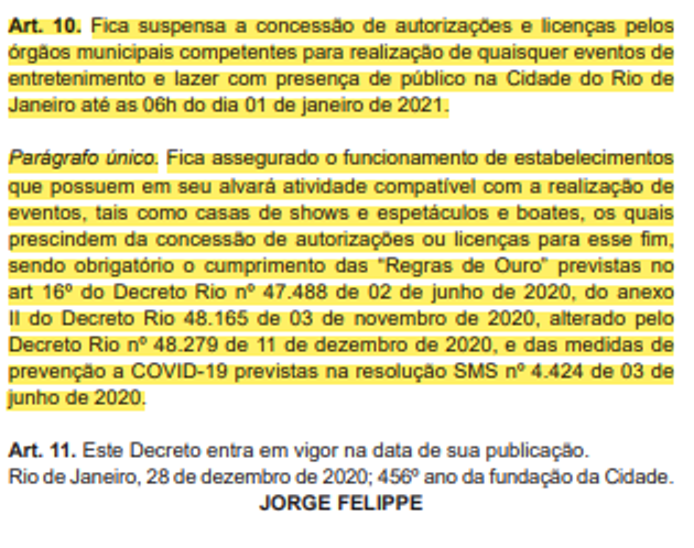 Reprodução parcial / Diário Oficial do Rio