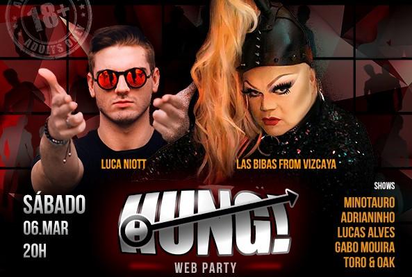 """Balada online com show de strip """"Hung! Web Party"""" rola neste sábado"""