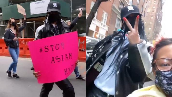 Manifestante se assusta ao descobrir que conversava Rihanna em protesto
